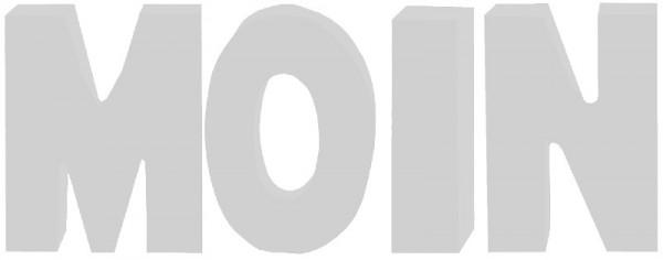 """Buchstaben """"Moin"""" klein"""
