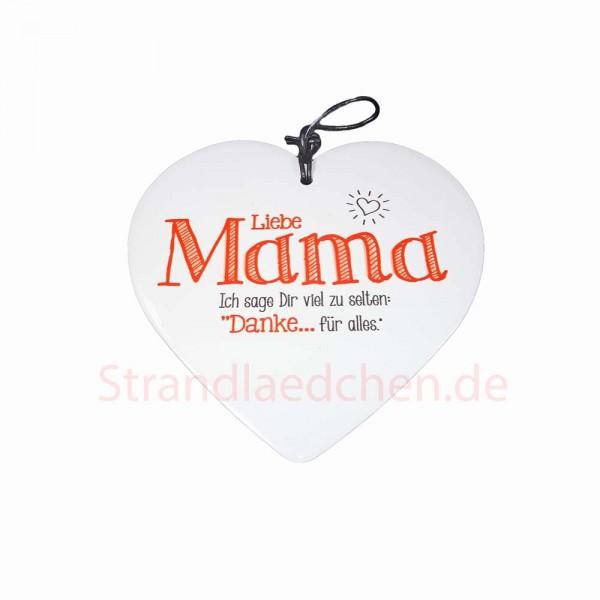 Keramikherz Liebe Mama