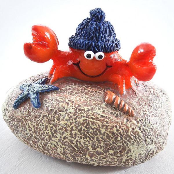 Krabbe auf Stein