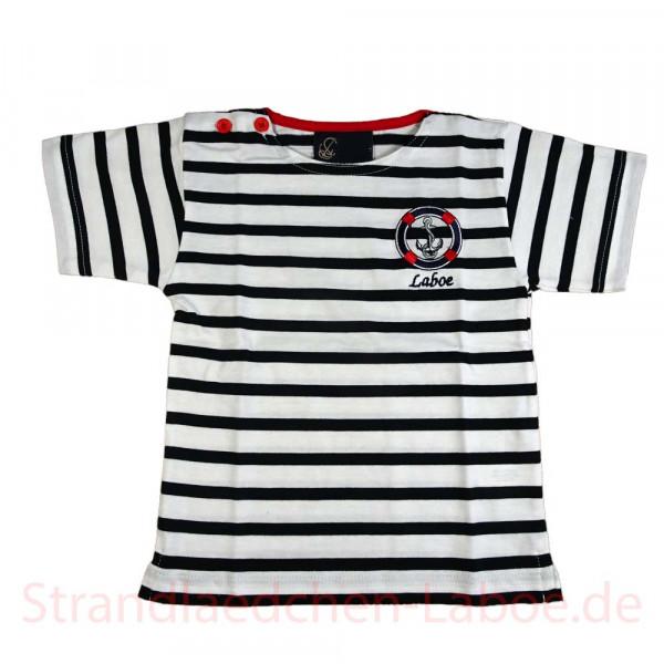 T-Shirt Kinder b/w gestreift