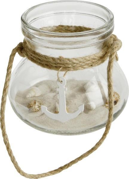 Teelichthalter mit Anker klein