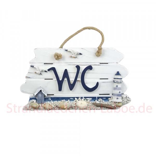 """Schild """"WC"""" blau-weiss"""