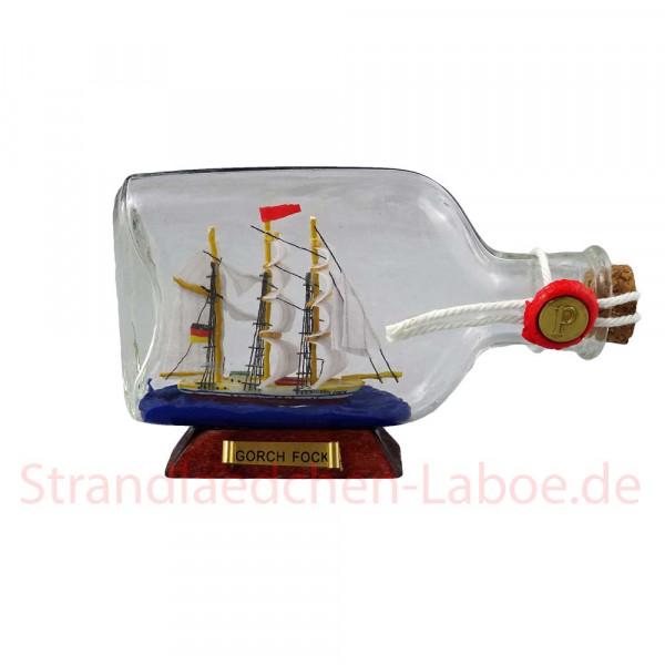 Buddelschiff flach Gorch Fock