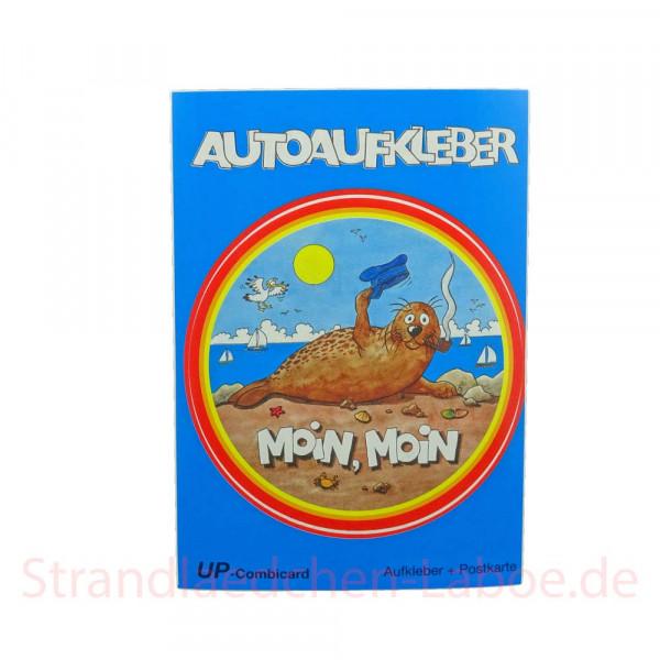 Aufkleberkarte Seehund Moin Moin