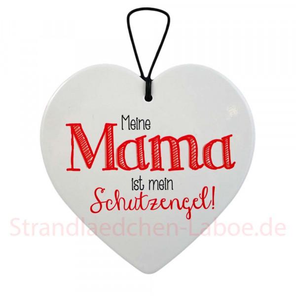 Keramikherz Mama Schutzengel