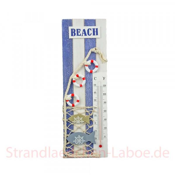 Thermometer Beach blau