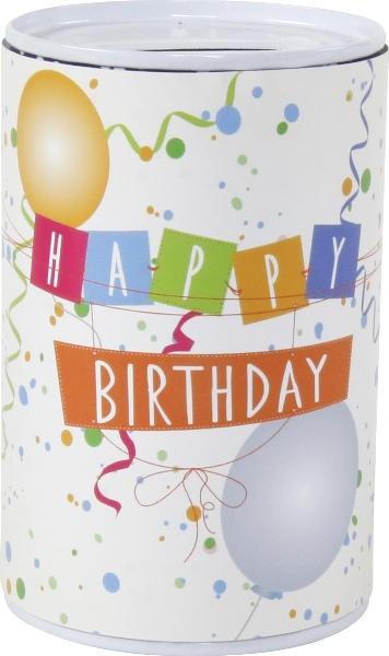 "Spardose Blech ""Happy Birthday"""