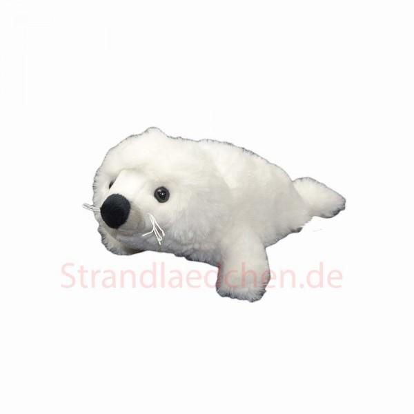 Plüsch Seehund weiß liegend