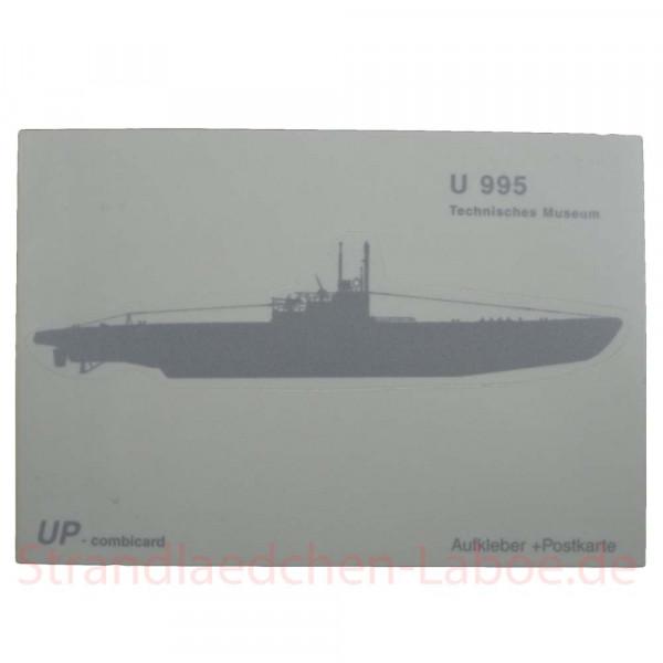 Aufkleberkarte U-995 silber