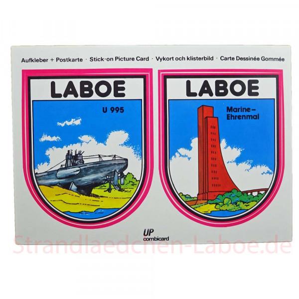 Aufkleberkarte Laboe
