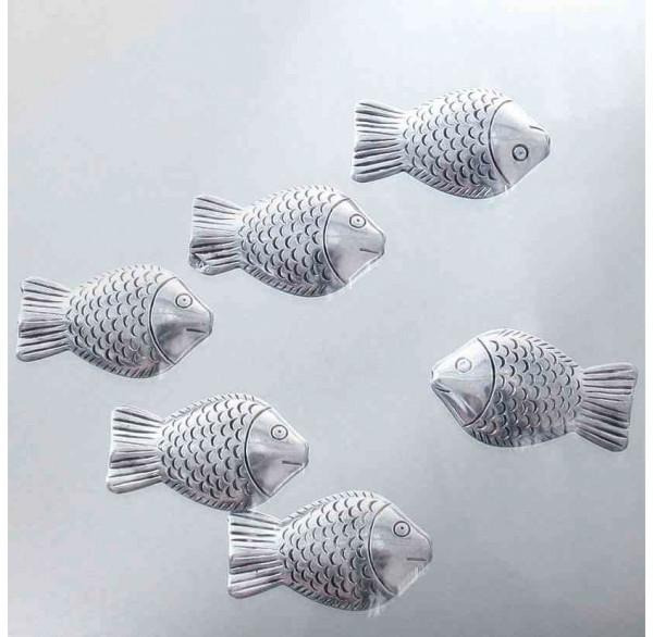 Silber Dekofische mini 6er Set