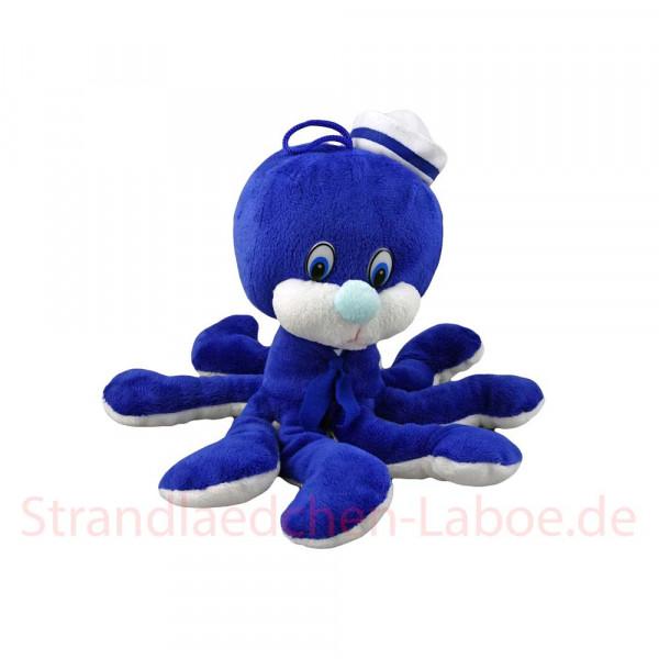 Plüsch Tintenfisch blau-weiß