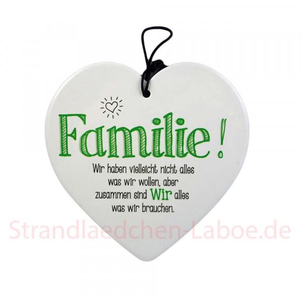 Keramikherz Familie