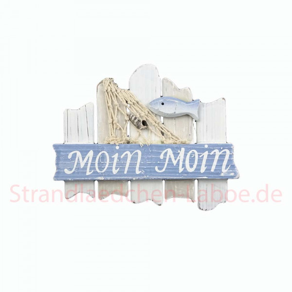 "Schild ""Moin Moin"" hellblau"
